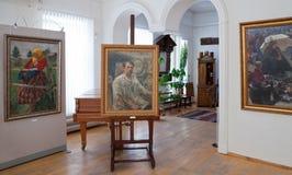 Galery door kunstenaar Ivan Kulikov (1875-1941) royalty-vrije stock afbeeldingen