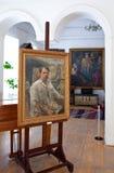 Galery door kunstenaar Ivan Kulikov. Zelf-portret stock foto