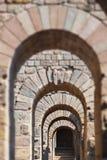 Galery na cidade antiga de Pergamon Turquia fotografia de stock