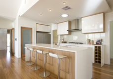 Galery nowa Domowa Kuchnia Zdjęcie Royalty Free