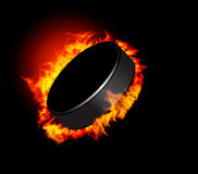 Galet d'hockey Photographie stock