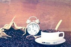 Galet förälskat med kaffe Royaltyfria Bilder