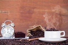 Galet förälskat med kaffe Arkivbild