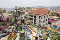 Galet hus för Da-Lat i Vietnam Royaltyfria Foton