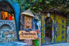 Galet hus för gästhem, Da-Latstad, gränsmärke Vietnam Royaltyfri Fotografi