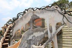 Galet hus i Da-laten, Vietnam Royaltyfria Foton