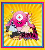 galet monster stock illustrationer