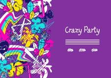Galet parti för moderiktig färgrik bakgrund Abstrakta moderna färgbeståndsdelar i grafittistil stock illustrationer