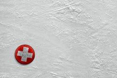 Galet sur la glace Image libre de droits