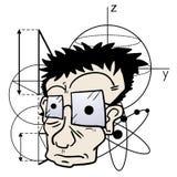 Galet vetenskapligt stock illustrationer