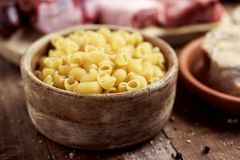 Galets, short pasta typical of catalonia, spain Stock Image