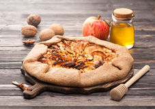 Galette with apples. Stock Image