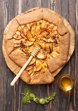 Galette with apples. Royalty Free Stock Images