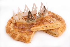 Galette and crown Royalty Free Stock Images