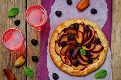 Galette de mûre de prune Image stock