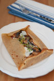 Galette de sarasin with mushrooms Stock Photos