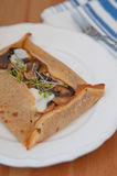 Galette de sarasin with mushrooms Stock Images