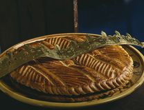 Galette des rois with chocolate filling Stock Image
