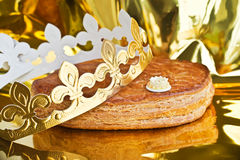 Galette des rois, french kingcake Stock Photography