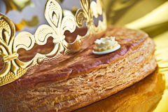 Galette des rois, french kingcake Royalty Free Stock Image