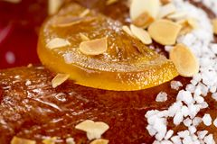 Galette des rois or King`s cake. Galette des rois. Traditional french cake Royalty Free Stock Images
