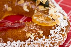 Galette des rois or King`s cake. Galette des rois. Traditional french cake Stock Photography