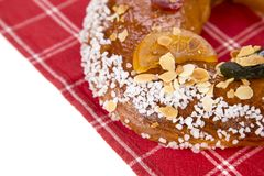 Galette des rois or King`s cake. Galette des rois. Traditional french cake Stock Images