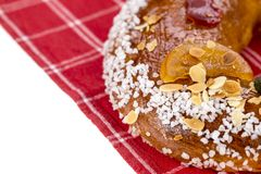 Galette des rois or King`s cake. Galette des rois. Traditional french cake Stock Image