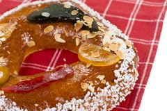 Galette des rois or King`s cake. Galette des rois. Traditional french cake Royalty Free Stock Photo