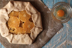 Galette dough with walnuts and orange Royalty Free Stock Image