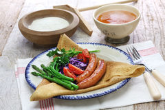 Galette du triangle, buckwheat crepe Stock Photography