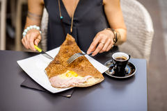 Galette french meal Stock Photos