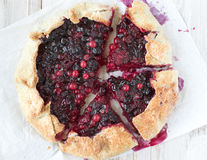 Galette with mixed berries Stock Image