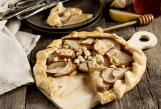 Galette with pears Stock Image