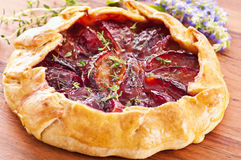 Galette with plum Royalty Free Stock Photography