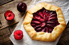 Galette with plums Royalty Free Stock Photography