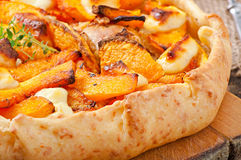 Galette with  pumpkin Stock Image