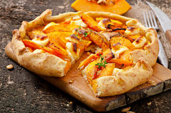 Galette with  pumpkin Royalty Free Stock Image