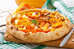 Galette with  pumpkin Stock Photos