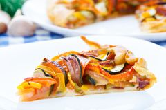 Galette ratatouille Stock Photography