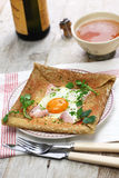 Galette sarrasin, buckwheat crepe Royalty Free Stock Photography