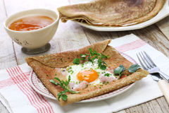 Galette sarrasin, buckwheat crepe Royalty Free Stock Photos