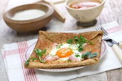 Galette sarrasin, buckwheat crepe Stock Photo