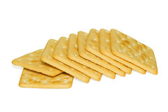 Galettes. Bunch of delicious crackers isolated on white background Royalty Free Stock Photos