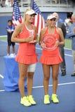 Galfi Dalma & Sofia Kenin USOPEN 2015 (117) Imagens de Stock