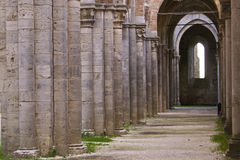galgano san детали аббатства Стоковая Фотография RF