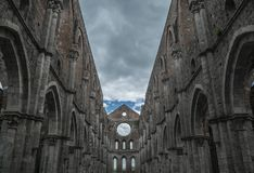 Galgano Toscana Italia Toscana del san de la abadía de la iglesia del cielo Imagenes de archivo