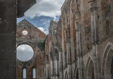 Galgano Toscana Italia Toscana Europa histórica del san de la abadía de la iglesia del cielo Foto de archivo libre de regalías