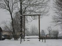 Galge på Auschwitz Royaltyfri Bild
