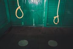 Galge som används av den grymma britten i den cell- arresten Royaltyfria Bilder